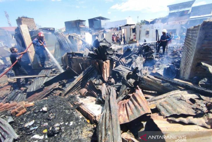 Kebakaran di Makassar hanguskan 110 rumah warga