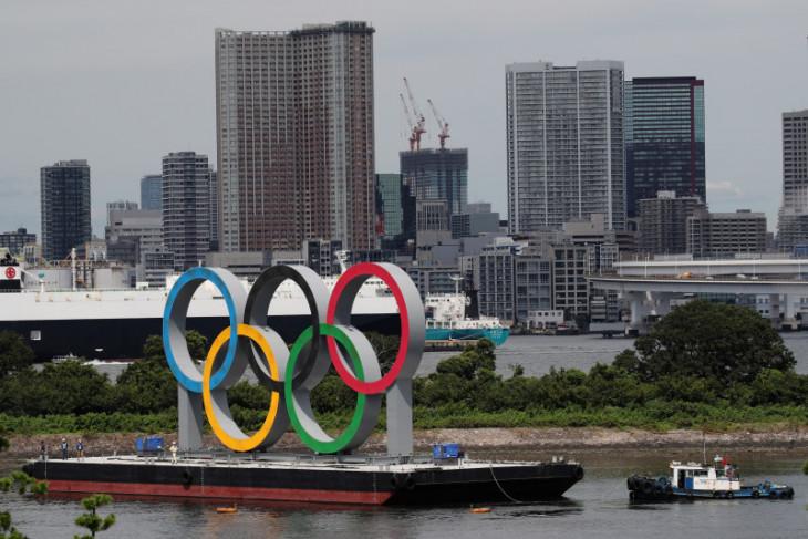 Cincin Olimpiade di Tokyo dilepas, diganti dengan logo Paralimpiade