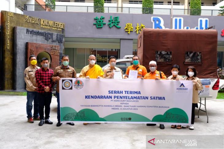 Tambang Emas Martabe donasikan kendaraan penyelamat satwa Harimau Sumatera