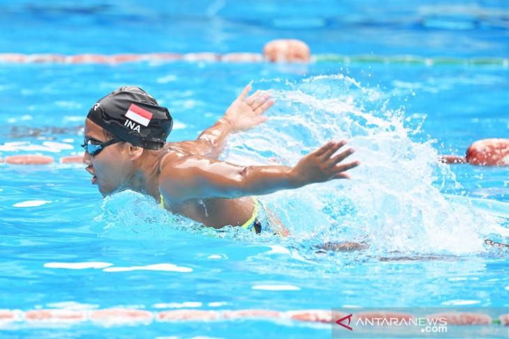 Atlet renang Syuci Indriani terhenti di babak penyisihan 100m gaya kupu-kupu S14