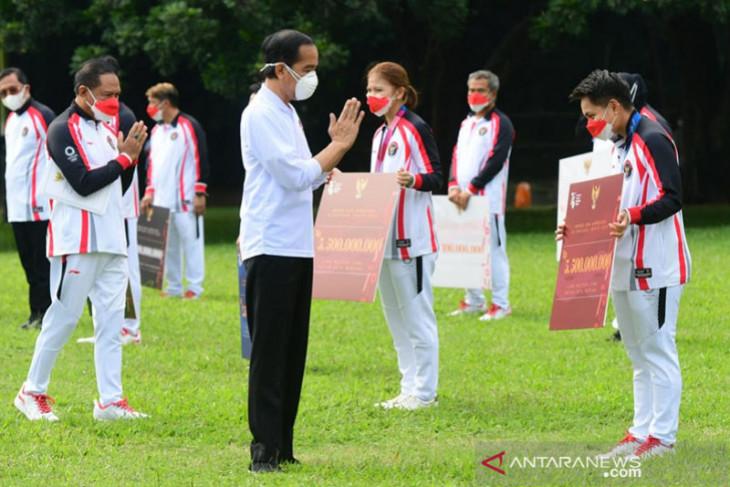 Presiden Jokowi beri bonus bagi atlet di Olimpiade Tokyo
