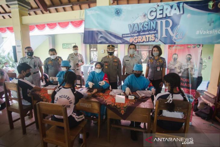 Jasa Raharja gandeng Biddokes Polda Bali laksanakan vaksinasi pelajar Denpasar