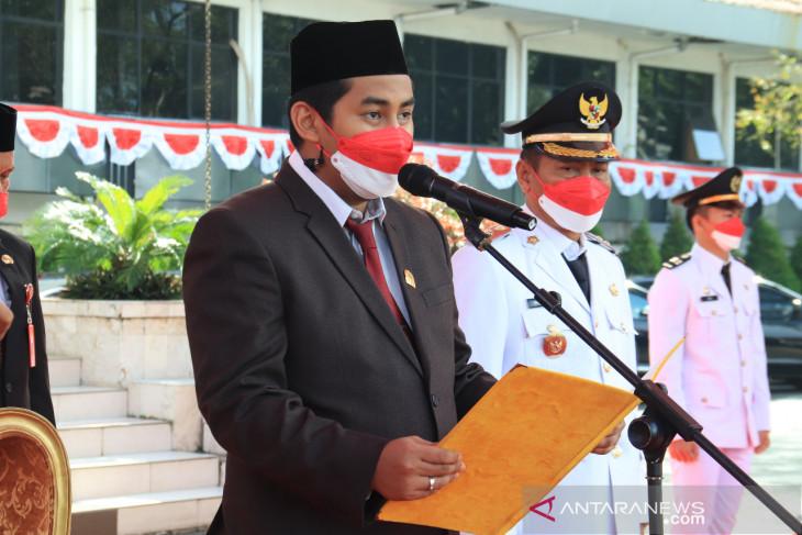 Ketua DPRD bacakan teks proklamasi