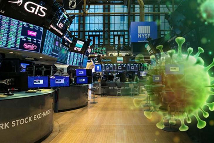 Saham-saham AS berakhir menanjak setelah pidato pimpinan Bank Federal