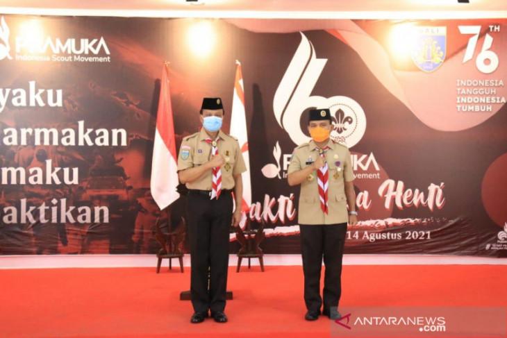 Sekda Bali: Pramuka jadi garda terdepan penerapan prokes