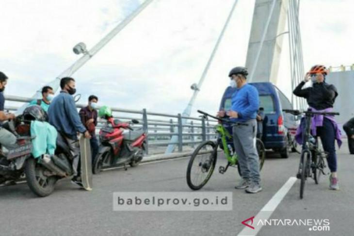 Gubernur Erzaldi: Bersepeda, pilihan olahraga agar semakin dekat dengan masyarakat