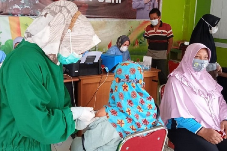 SKK Migas-PetroChina sinergi Dinkes Tanjabtim vaksin warga Lagan Tengah