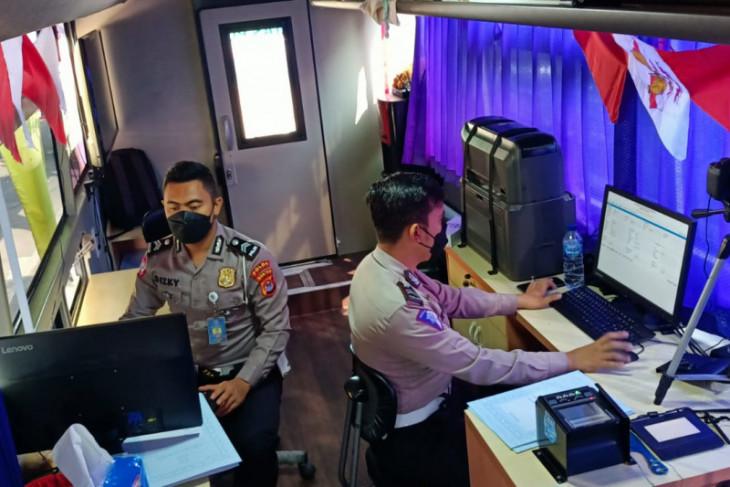 Polda Banten optimalkan layanan SIM keliling selama PPKM