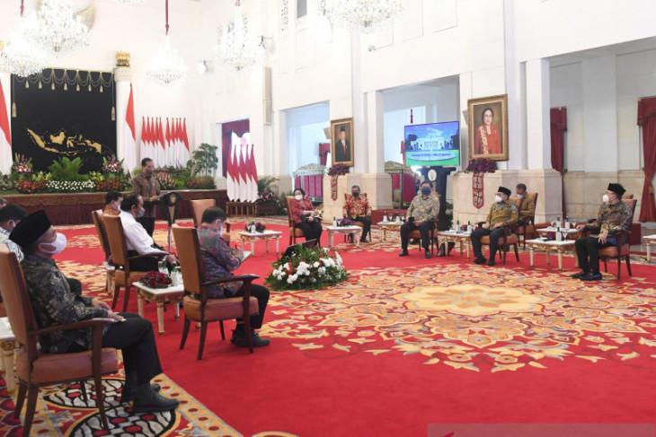Pertemuan Presiden dengan ketua umum parpol perkuat gotong royong