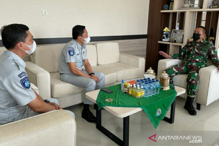 Jasa Raharja Babel kunjungan kerja ke Korem 045 Garuda Jaya