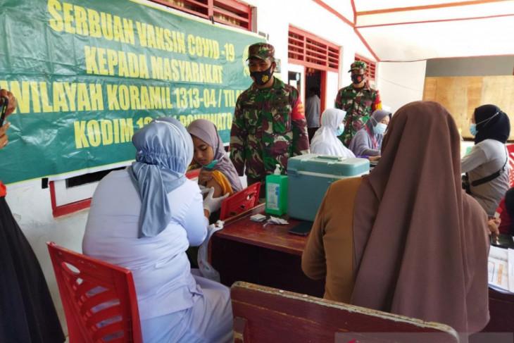 Kodim 1313 gelar Serbuan Vaksinasi di Kabupaten Pohuwato