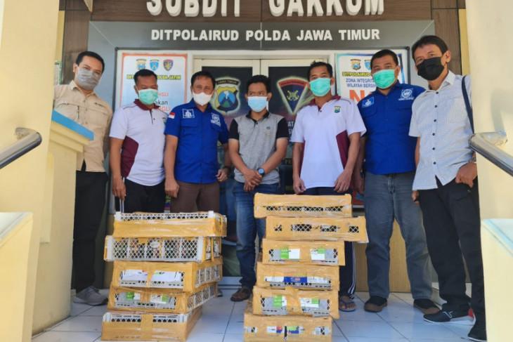 Polairud Polda Jatim gagalkan pengiriman satwa dilindungi dari Balikpapan