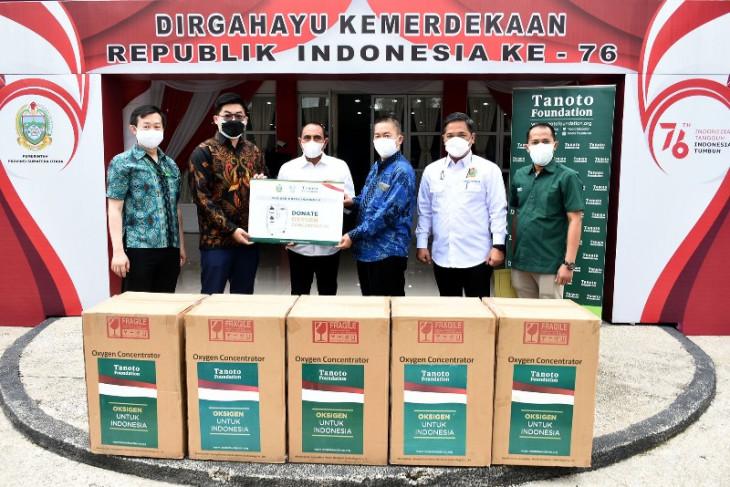 Tanoto-Asian Agri sumbang konsentrator oksigen untuk rumah sakit di Sumut