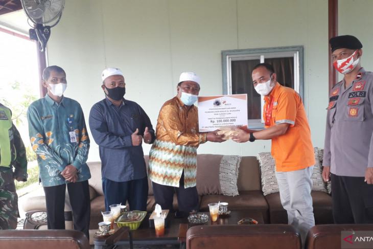 PT Arutmin bantu Rp100 juta untuk pembangunan Masjid Al-Muhajirin Desa Sungai Cuka