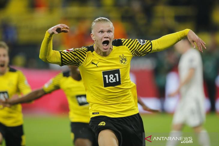 Haaland cetak gol antar Dortmund menang dramatis atas Hoffenheim