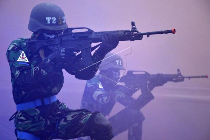Atraksi kemampuan dan ketangkasan prajurit TNI AL