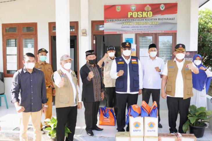 Pastikan Posko berfungsi, Kepala BNPB tinjau Posko PPKM Gampong Lambung