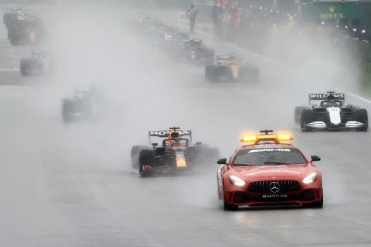 Formula 1: Cuaca buruk tunda start GP Belgia