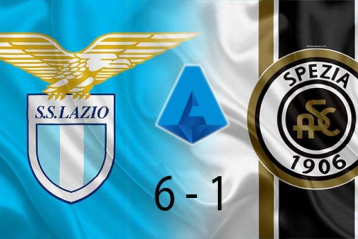 Lazio menang 6-1 atas Spezia, Atalanta imbang lawan Bologna