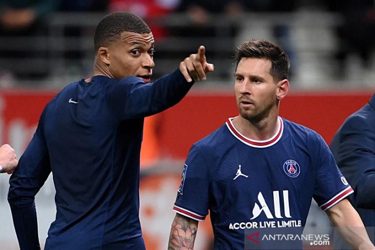 Debut Messi jadi kameo saat  Mbappe antar PSG bekuk Reims