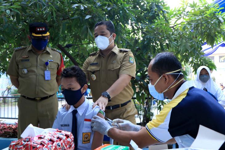 Dinkes Tangerang gelar vaksinasi sasar 7.531 pelajar SMP/SMA dalam sehari
