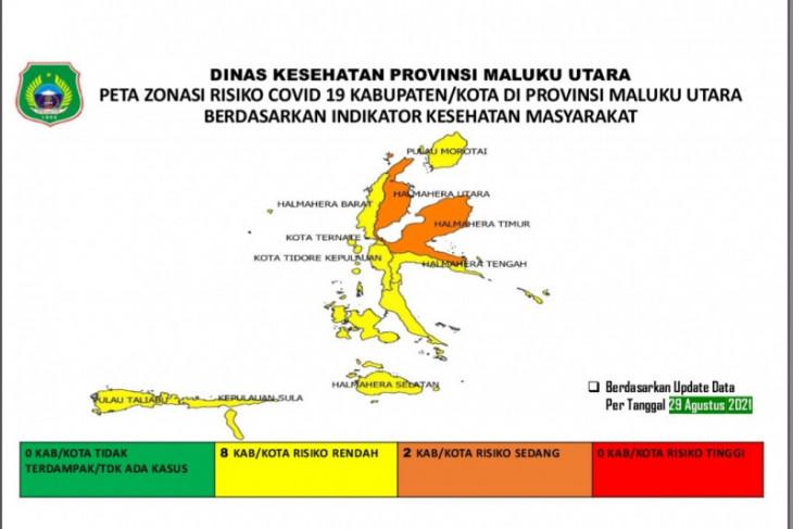 Delapan kabupatenkota di Malut kategori zona kuning intensifkan Prokes