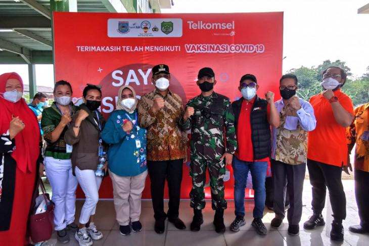 Telkomsel Dukung Brigade Kavaleri dan Pemkot Tangsel Hadirkan Vaksin Gratis #YangKitaBisa