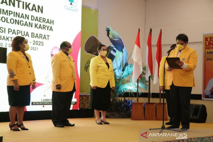 Airlangga minta kader Golkar Papua Barat siapkan diri hadapi Pemilu 2024