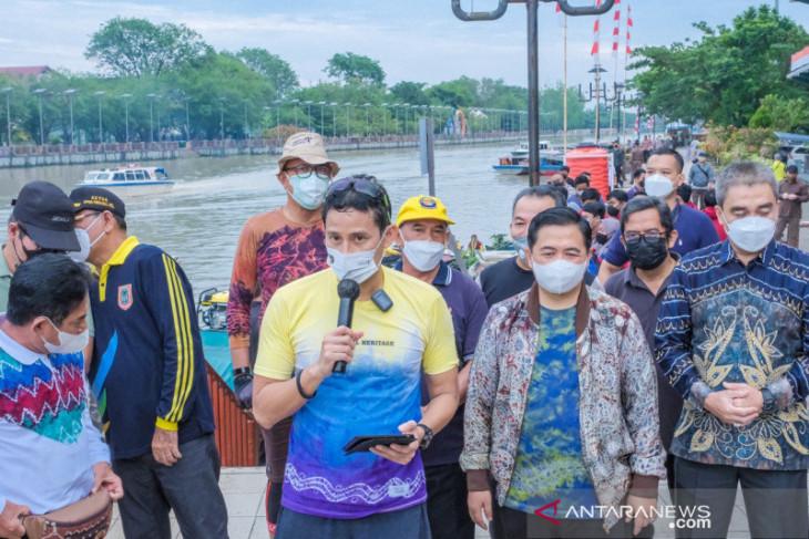 Menparekraf  Sandiaga Uno dorong Pengembangan wisata sungai di Banjarmasin