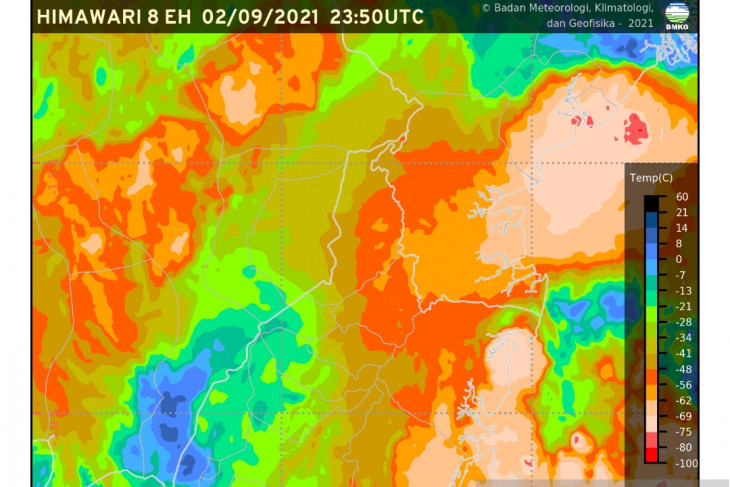 BMKG : Waspadai hujan lebat dan angin kencang di Bali, dan sejumlah daerah lainnya