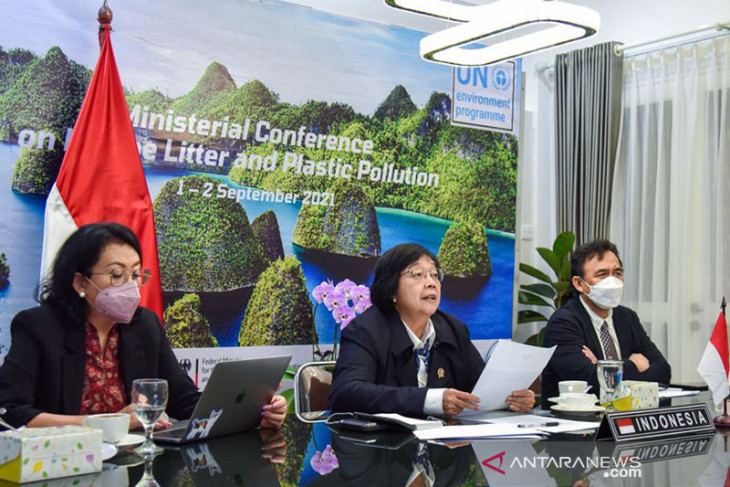 Menteri LHK tegaskan komitmen Indonesia atasi sampah plastik