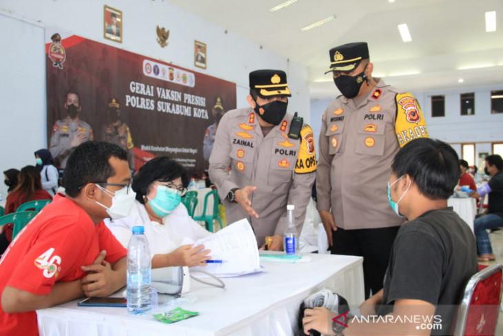 Polres Sukabumi Kota kerja sama dengan puluhan nakes bantu percepatan vaksinasi