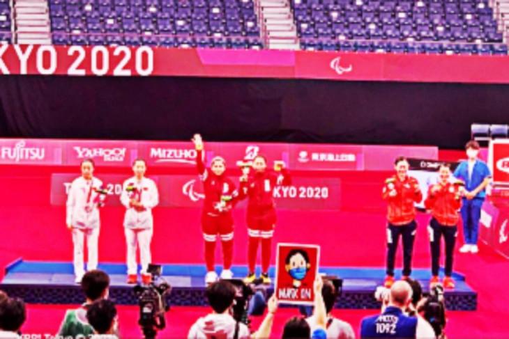 Dubes RI terharu Merah Putih berkibar di Tokyo berkat Leani/Khalimatus