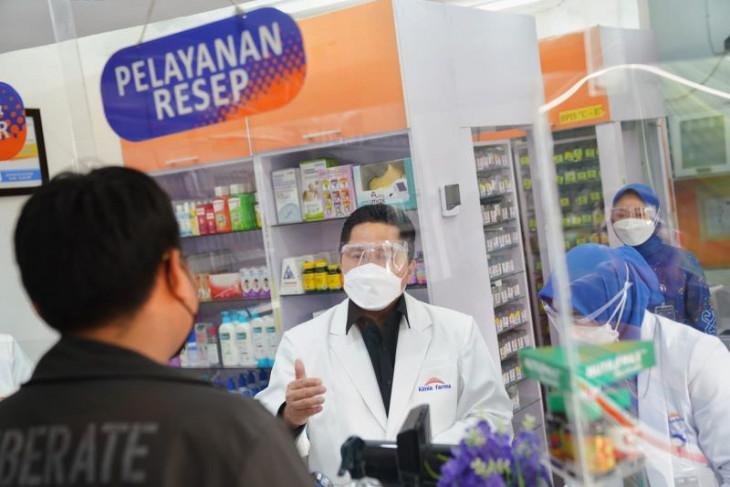 Menteri BUMN sebut aplikasi Farmaplus bantu publik cek ketersediaan obat