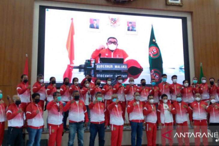 Gubernur Murad lepas kontingen PON Maluku secara virtual raih prestasi