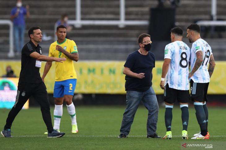 Kualifikasi Piala Dunia, laga Brazil vs Argentina dihentikan otoritas kesehatan