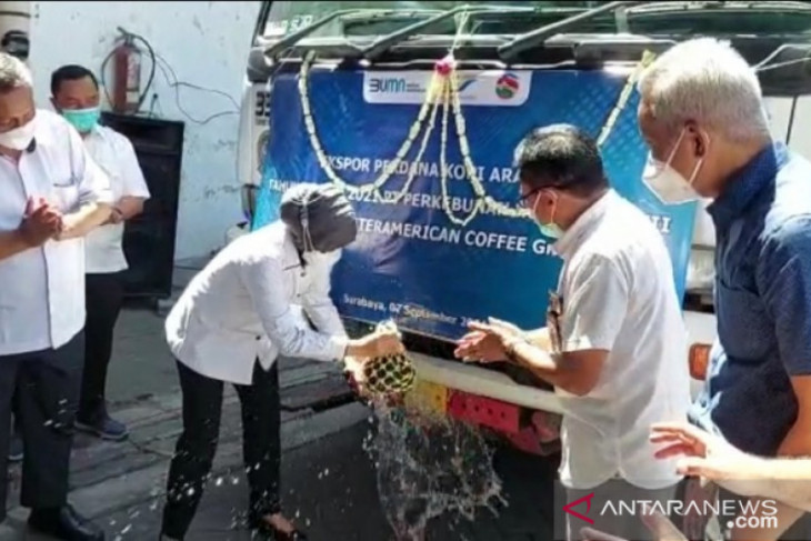 PTPN XII ekspor perdana 18 ton kopi arabika ke Inggris