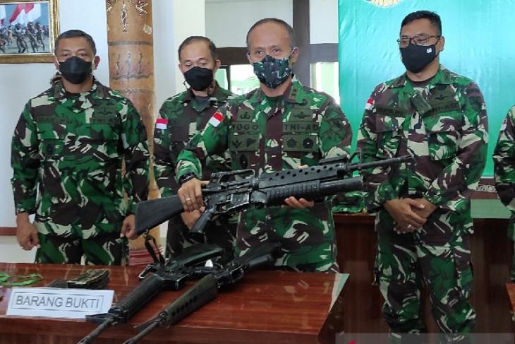 Pangdam: Lima senpi KSB bukan milik TNI-Polri