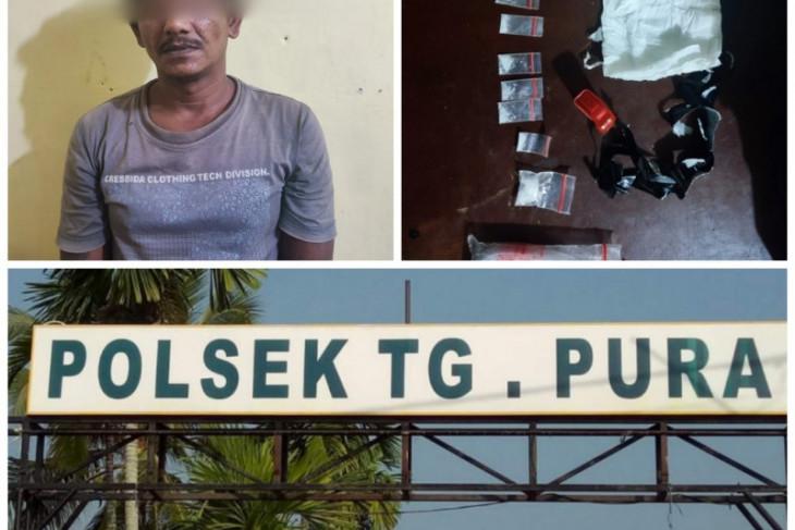 Polsek Tanjung Pura Langkat tangkap  Ian miliki sabu-sabu