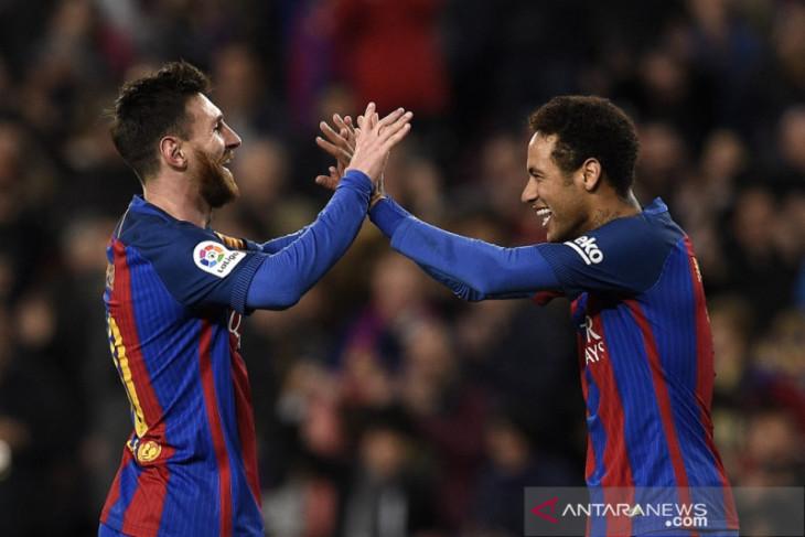 Laporta ungkap Neymar ingin kembali ke Barcelona sebelum Lionel Messi pergi