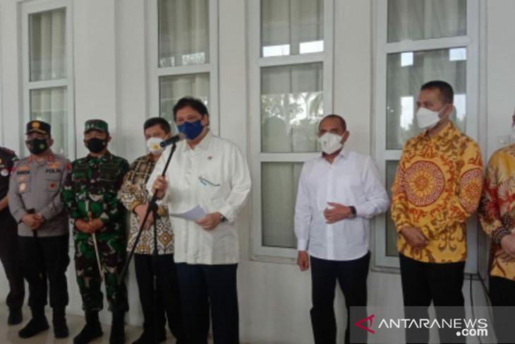 Airlangga Hartarto: Kota Medan sudah PPKM Level III