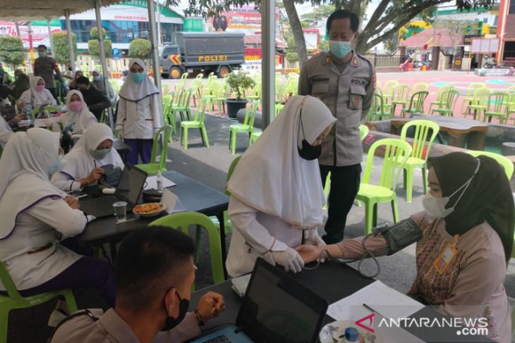 Peserta vaksinasi Polres Rejang Lebong 5.303 orang