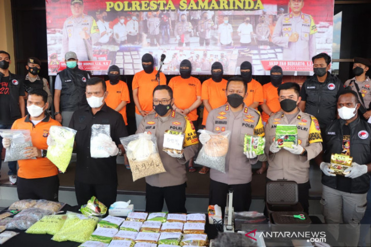 Polresta Samarinda berhasil ungkap 25 kg sabu diduga jaringan antar provinsi