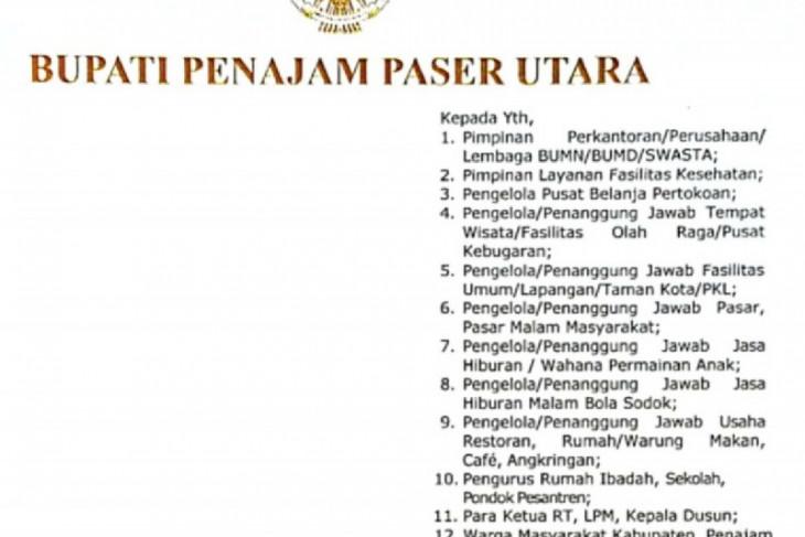 Pemkab PPU perpanjang PPKM Level 3 hingga 20 September