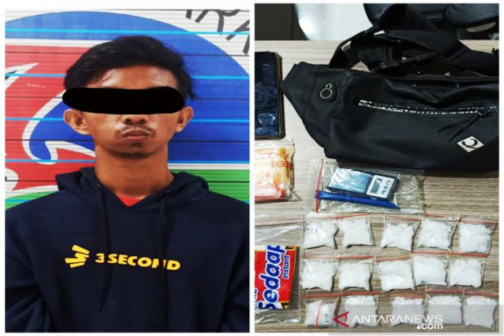 Satresnarkoba Polresta Banjarmasin ringkus pengedar dan sita 15 paket sabu-sabu