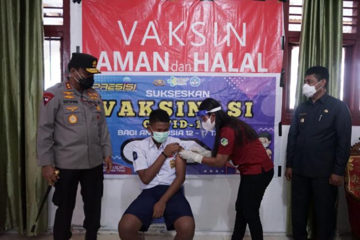 Kapolda Malut harap pelajar tidak takut divaksin intensifkan sosialisasi