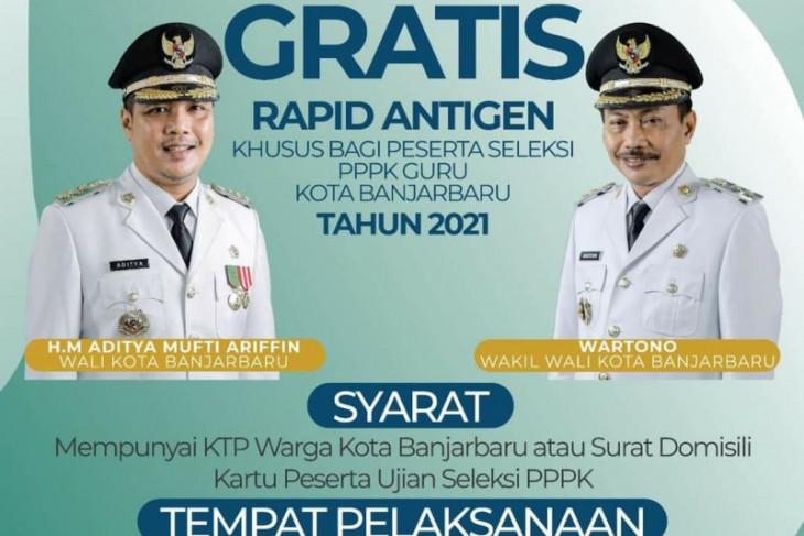 Pemkot Banjarbaru gratiskan rapid antigen peserta seleksi PPPK guru