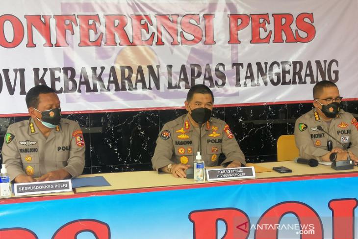 Polri sebut  dugaan adanya kelalaian dalam kasus kebakaran Lapas Tangerang