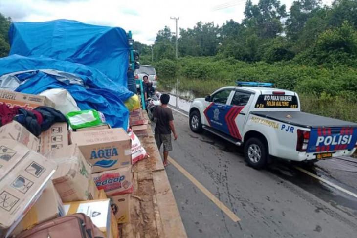 Tertahan di Bukit Rawi, Aliansi Tabalong dikawal PJR Polda Kalteng