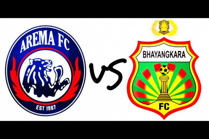 10 pemain Bhayangkara imbangi permainan Arema FC 1-1
